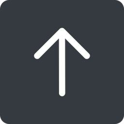 arrow-simple up, solid, square, arrow, direction, arrow-simple free icon 256x256 256x256px