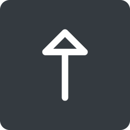 arrow up, normal, solid, square, arrow free icon 256x256 256x256px