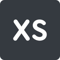 extra-small normal, solid, square, extra, small, xs, size, extra-small free icon 256x256 256x256px