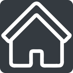 home normal, solid, square, home, house free icon 256x256 256x256px
