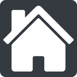 house-solid normal, square, home, house, chimney, house-solid free icon 256x256 256x256px