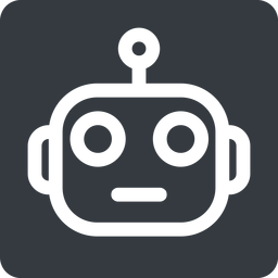 robot normal, solid, square, robot, robotics, head free icon 256x256 256x256px