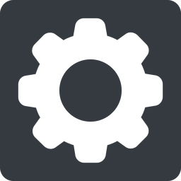 setting-solid normal, solid, square, setting, config, gear, wheel, settings, cog, setting-solid free icon 256x256 256x256px