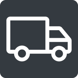 truck normal, solid, square, truck, delivery, van, lorry free icon 256x256 256x256px