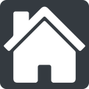 house-solid normal, square, home, house, chimney, house-solid free icon 128x128 128x128px