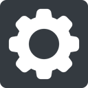 setting-solid normal, solid, square, setting, config, gear, wheel, settings, cog, setting-solid free icon 128x128 128x128px