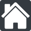 house-solid normal, square, home, house, chimney, house-solid free icon 64x64 64x64px