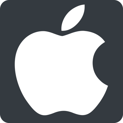 apple normal, solid, square, logo, brand, apple, macintosh, itunes, ipad, iphone, ipod free icon 512x512 512x512px