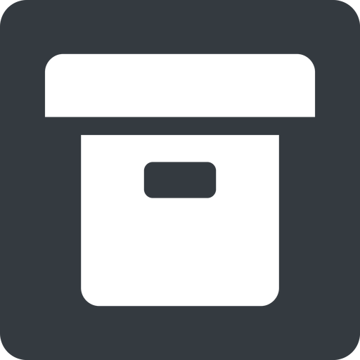 archive-solid normal, solid, square, archive, back-up, archive-solid free icon 512x512 512x512px