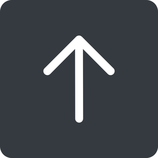 arrow-simple up, solid, square, arrow, direction, arrow-simple free icon 512x512 512x512px