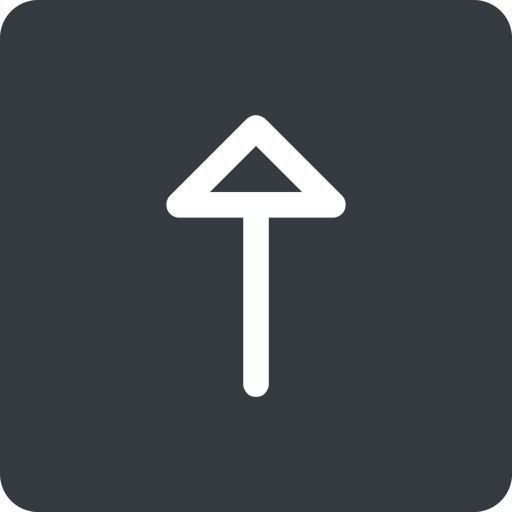 arrow up, normal, solid, square, arrow free icon 512x512 512x512px
