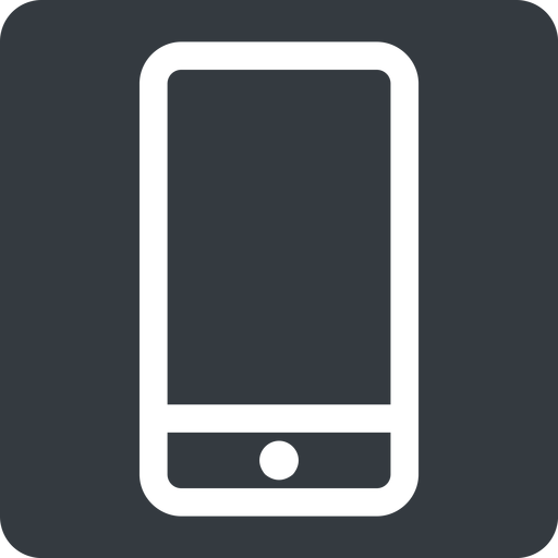 smartphone up, normal, solid, square, iphone, phone, android, gsm, smartphone, cell free icon 512x512 512x512px