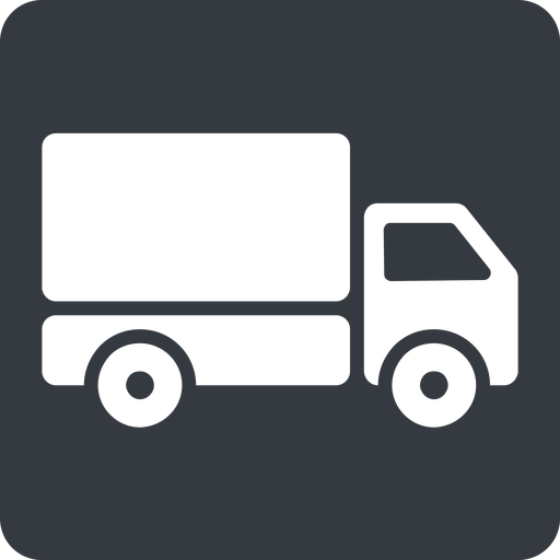 truck-solid normal, solid, square, truck, delivery, van, lorry, truck-solid free icon 512x512 512x512px