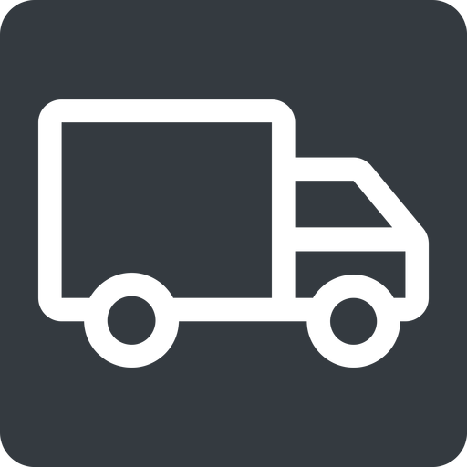 truck normal, solid, square, truck, delivery, van, lorry free icon 512x512 512x512px