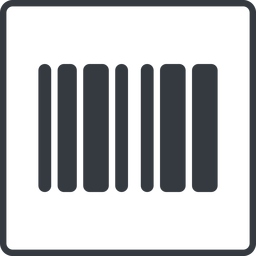barcode-solid thin, line, down, solid, square, barcode, barcode-solid free icon 256x256 256x256px