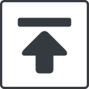 download-solid thin, line, down, square, download, downloaded, downloading, download-solid free icon 128x128 128x128px
