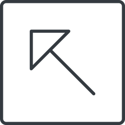 arrow-corner-thin thin, line, left, square, arrow, corner, arrow-corner-thin free icon 256x256 256x256px