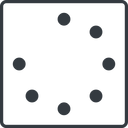 spinner-thin line, left, square, spinner, spin, wait, load, loading, spinner-thin free icon 128x128 128x128px