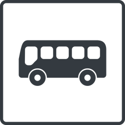 bus-side thin, line, wide, square, horizontal, mirror, car, vehicle, transport, bus, side, bus-side free icon 256x256 256x256px