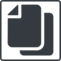 copy-solid thin, line, up, solid, square, horizontal, mirror, copy, copy-solid, files free icon 256x256 256x256px
