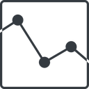 analytics-thin line, up, square, horizontal, mirror, graph, analytics, chart, analytics-thin free icon 128x128 128x128px