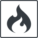codeigniter thin, line, square, logo, brand, icon, horizontal, mirror, codeigniter, igniter, code, php, framework, flame, fire free icon 128x128 128x128px