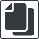 copy-solid thin, line, up, solid, square, horizontal, mirror, copy, copy-solid, files free icon 128x128 128x128px