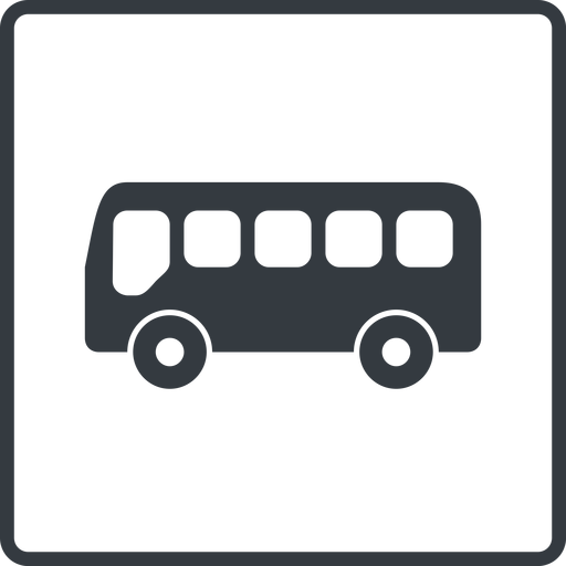 bus-side thin, line, wide, square, horizontal, mirror, car, vehicle, transport, bus, side, bus-side free icon 512x512 512x512px