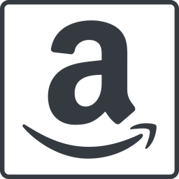 amazon thin, line, square, logo, brand, shop, buy, ecommerce, market, place, amazon free icon 256x256 256x256px