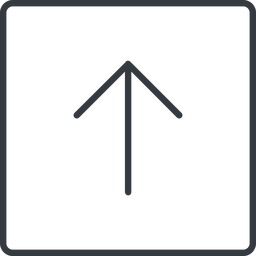 arrow-simple-thin thin, line, up, square, arrow, direction, arrow-simple-thin free icon 256x256 256x256px