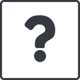 question-mark thin, line, square, question, mark, question-mark, help free icon 256x256 256x256px