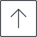 arrow-simple-thin thin, line, up, square, arrow, direction, arrow-simple-thin free icon 128x128 128x128px