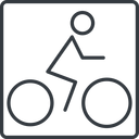 bicycle-thin thin, line, square, vehicle, riding, bicycle, bike, cycle, cycling, bicycle-thin free icon 128x128 128x128px