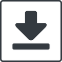 download-solid thin, line, up, square, download, downloaded, downloading, download-solid free icon 128x128 128x128px