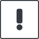 exclamation-mark thin, line, square, mark, warning, exclamation, straight, info, exclamation-mark free icon 128x128 128x128px
