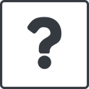 question-mark thin, line, square, question, mark, question-mark, help free icon 128x128 128x128px