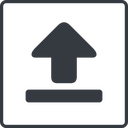 upload-solid thin, line, square, upload, uploaded, uploading, upload-solid free icon 128x128 128x128px