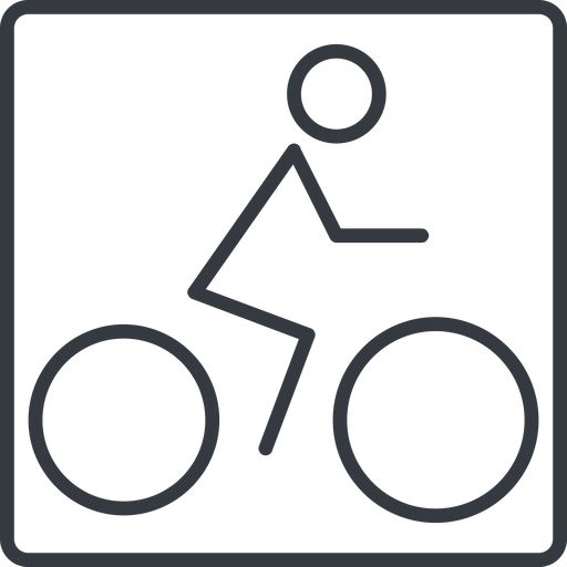 bicycle-thin thin, line, square, vehicle, riding, bicycle, bike, cycle, cycling, bicycle-thin free icon 512x512 512x512px