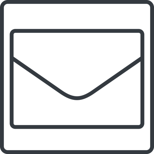 envelope-thin thin, line, square, envelope, mail, message, email, envelope-thin, contact free icon 512x512 512x512px