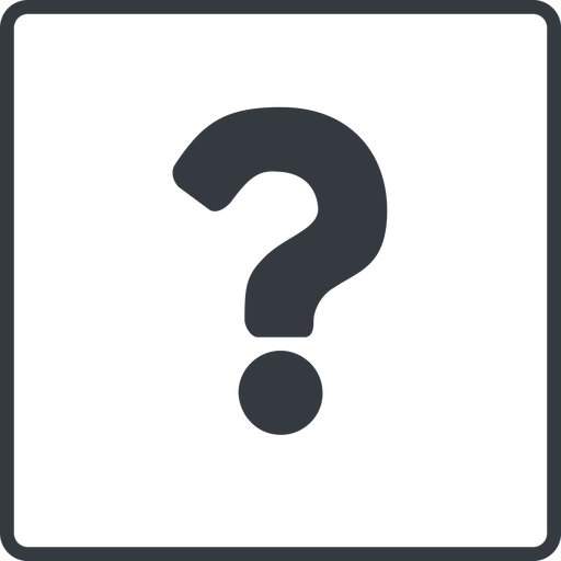question-mark thin, line, square, question, mark, question-mark, help free icon 512x512 512x512px