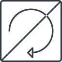 undo-thin thin, line, down, square, horizontal, mirror, arrow, prohibited, reload, refresh, undo, redo, undo-thin, restore free icon 128x128 128x128px