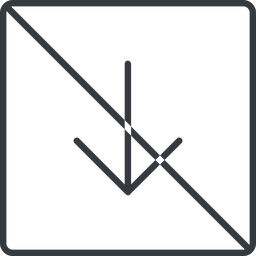 arrow-simple-thin thin, line, down, square, arrow, direction, prohibited, arrow-simple-thin free icon 256x256 256x256px