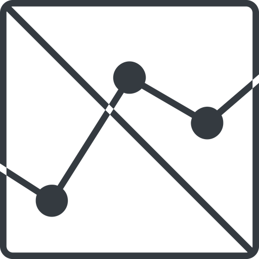 analytics-thin thin, line, down, square, graph, analytics, chart, prohibited, analytics-thin free icon 512x512 512x512px