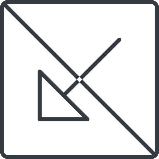 arrow-corner-thin thin, line, down, square, arrow, prohibited, corner, arrow-corner-thin free icon 512x512 512x512px