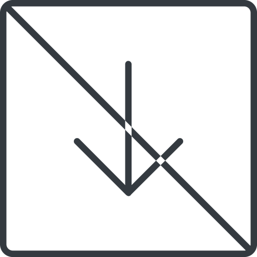 arrow-simple-thin thin, line, down, square, arrow, direction, prohibited, arrow-simple-thin free icon 512x512 512x512px