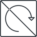 undo-thin thin, line, left, square, horizontal, mirror, arrow, prohibited, reload, refresh, undo, redo, undo-thin, restore free icon 128x128 128x128px