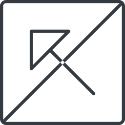 arrow-corner-thin thin, line, left, square, arrow, prohibited, corner, arrow-corner-thin free icon 256x256 256x256px