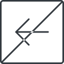 arrow-simple-thin thin, line, left, square, arrow, direction, prohibited, arrow-simple-thin free icon 128x128 128x128px