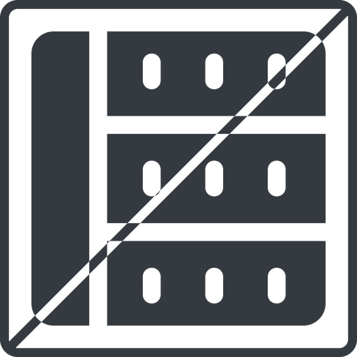 spreadsheet-solid thin, line, left, square, prohibited, cell, table, data, grid, row, columns, spreadsheet, spreadsheet-solid free icon 512x512 512x512px