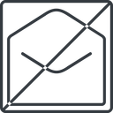 open-envelope-thin thin, line, square, horizontal, mirror, envelope, mail, message, email, prohibited, contact, open, read, open-envelope, open-envelope-thin free icon 128x128 128x128px
